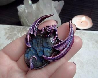 Dragon Necklace, Purple Dragon, Labradorite Dragon Necklace, Medieval Necklace, Mother of Dragons, Daenerys Necklace