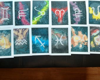 Zodiac Watercolour Prints