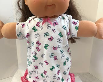 "Cabbage Patch KIDS 16 inch Doll Clothes, Pretty ""PINK & Green BUTTERFLY"" Nightgown, 16 inch Cabbage Patch Doll, Fits 15 inch Bitty Baby"
