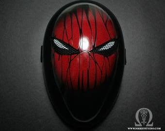 Spiderman version faceless black mask - satin finish