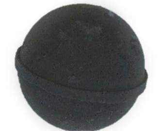 Black bath bomb, charcoal bath bomb, black bath bomb large 5ounces. black bath bomb