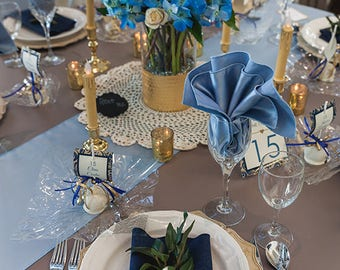 Jean Napkin - Blue Jean Napkin - Denim Napkin - Jean Napery - Jean Wedding Decor- Jean Serviette - Denim Table Linen - Set of 20