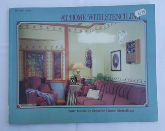 """Vintage """"At Home With Stenciling""""Your Guide to Creative Home Stenciling, Plaid, #7861"""