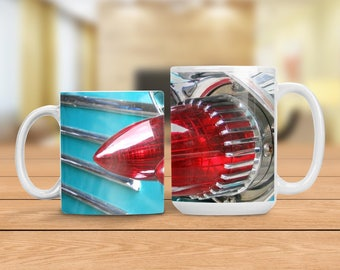 Vintage Pontiac Mug, Pontiac Tail Lights Cup, Vintage Car Cup, Classic Automobile Mug, Man Cave Gift Idea, Gift for Dad, Gift for Car Lover