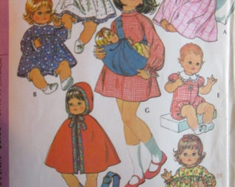 Vintage Baby Doll Wardrobe McCall's Pattern #3430 NOT A PDF COPY
