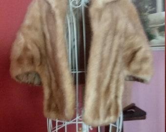 Fur Stole Caplet 1950s