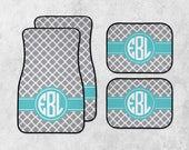 Personalized Car Mats - Preppy Car Mats - Monogram Car Mat Set - Custom Car Mat Set - New Car Floor Mats - Full Set Car Mats - New Driver