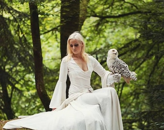 robe elfique blanche