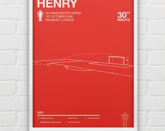 Thierry Henry vs Manchester United Giclee Print --