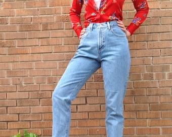 "Vintage GAP High Waist Jeans, 80s 90s GAP Blue Jeans, Classic Fit, Mom Jeans, Tapered Leg, Women's   29"" waist"