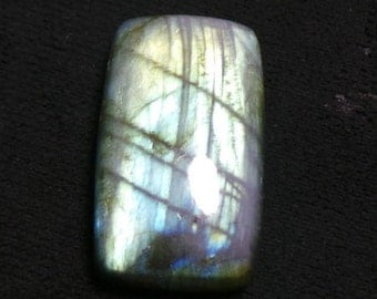 Wholesale Price,Labradorite Multi Flashy Fire Octagon Cabochon,Size 20x33x9 mm,1 Piece Natural Labradorite Smooth,64 Ct