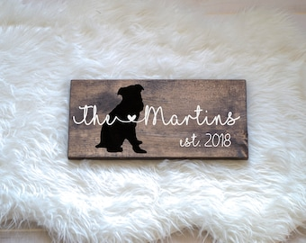 Last Name Wood Sign with Brussels Griffon Silhouette, Wedding Signs, Last Name, Wedding Gift, Dog Wedding Gift, Anniversary Gift, Entryway