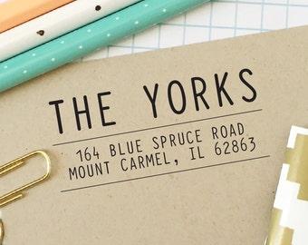 Custom Return Address Stamp, Self-Inking Address Stamp, Modern and Simple Address Stamp, Save the Date, Personalized Address Stamp - No 151