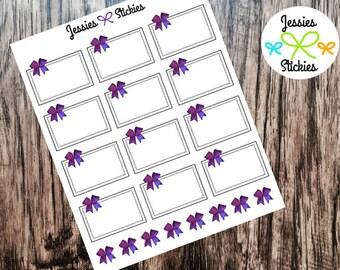 Purple Bow Half Boxes