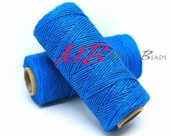 Blue Hemp Cord, 20 lb Natural Hemp Cord Spool, Macrame Cord