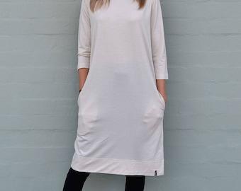 Audrey Dress - 100% Australian Made Women's Pure Merino Wool Dress