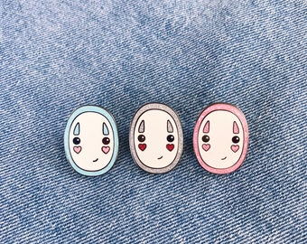 Kaonashi No Face from Spirited Away Enamel Lapel Pin