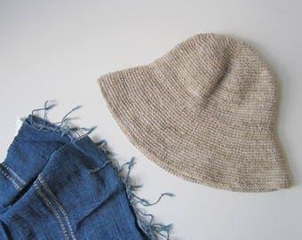 Hemp Hat Handmade Sun Hat Handcrafted Beach Hat