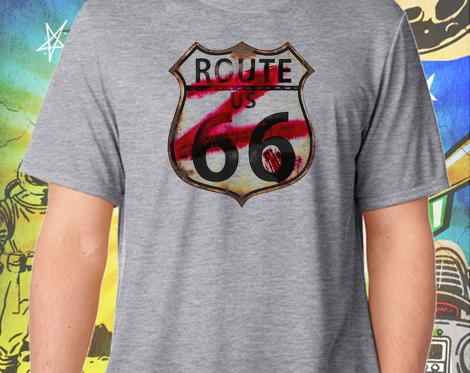 ZNATION / Route 66 Z-Shield / Men's Zombie Gray Performance T-Shirt