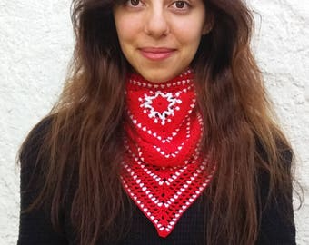 Crochet bandana pattern. Crochet cowl bandana scarf crochet pattern // BELLISSIMA bandana pattern _ C45