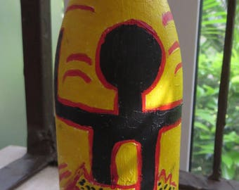 painted bottle - Haring