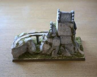 Miniature Diorama, Clay Sculpture, Miniature Castle, Fairy Tale Art, Clay Diorama, Miniature Sculpture