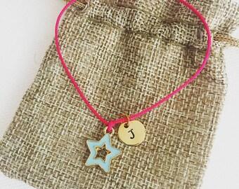 Birthday gift, star bracelet, personalised, initial bracelet, personalised gift, bracelet, charm bracelet, initial, friendship bracelet gift