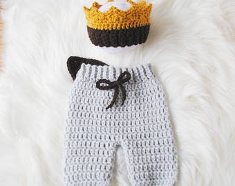 Where the Wild Costume, Halloween Max Costume, Max Crown, Wild Thing Baby, Photography Prop, Newborn Photography, Halloween Baby, Knit Baby