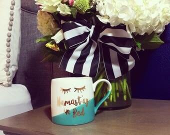 Namaste In Bed 20oz. Ceramic Coffee Mug