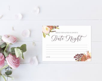 Unique Guest Book. Wedding Guest Book Alternatives. Personalized Date Night. Date Night Cards. Date Night Ideas. Date Night Bridal Shower.