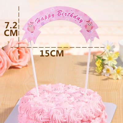 6pcs HAPPY BIRTHDAY Cake Topper Banner
