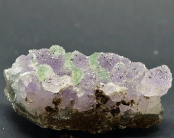 Druzy Purple and Green Amethyst - AMEDG1
