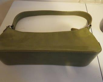 Prachtige handtas in olijfgroen echte lederen door TULA verse stripe voering ziet er als nieuw