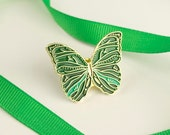 Butterfly Pin Emerald Green / Soft Enamel Pin / Butterfly Enamel Pin / Cute Pin / Butterfly Gift / Animal Pin / Butterflies / Pin Badge
