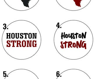 Houston Strong Stickers/Decals - Sheets of 20