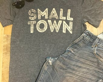 Small Town tee womens T Shirt, Mens T, graphic T Shirt, vintage T shirt, T shirt gift, Gift for her, Baseball tee
