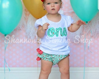 First Birthday Outfit, Floral First Birthday, First Birthday Bloomers, Baby Girl Birthday