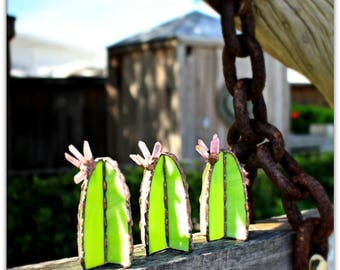 Crystals & Cacti, Stained glass, stained glass cactus, cacti, succulents, stained glass, sun catcher, crystals, flowers, terrarium, plants