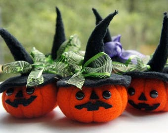 PUMKINS halloween, decoration Pumpkins, Felt.