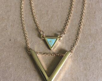 Chevron Layered Necklace