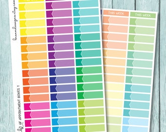 Appointment Labels, Event Stickers for use with ERIN CONDREN LIFEPLANNER™
