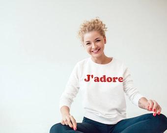 Jadore fashion shirt, French shirt, French tee, Graphic tee, Graphic shirt, Girls French tee, Jdore tee, Slogan tee, Slogan shirt