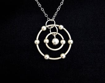 Oxygen Atom Necklace (Sterling Silver)