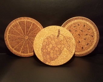 Custom Cork Hot Pads (3 pack)
