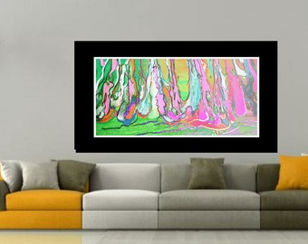 Pink Abstract Family room Art abstract wall art  Acrylic Art painting modern painting fluid giclee art print modern art canvas wall artwork