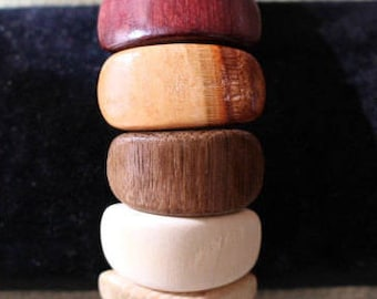 wooden jewelry- multicolor bracelet