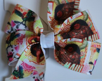 Moana Hair Bow, Maui Hair Bow, Pua Hair Bow, Girls Hair Bow, Toddler Hair Bow, Moana Bow, Pua Bow, Maui Bow