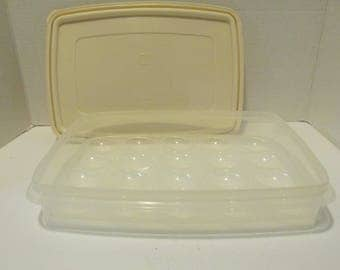 Plastic Rubbermaid Servin Saver Egg Container / Deviled Egg Container 20 Eggs