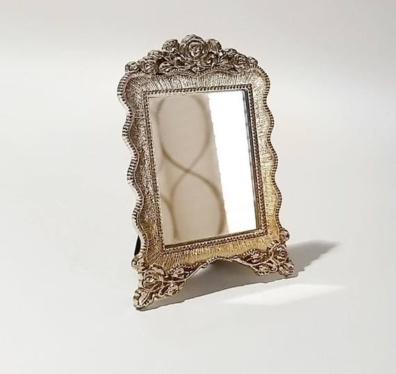 Small silver mirror mini mirror decorative mirrors table for Small silver mirror