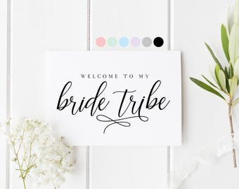 Welcome To My Bride Tribe Card, Will You Be My Bridesmaid, Bridesmaid Proposal Card, Card For Bridesmaid, Wedding Card Maid Of Honor Card